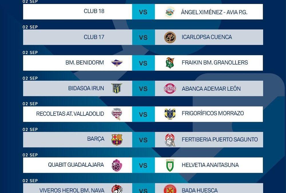 Primera jornada de la Liga Sacyr Asobal